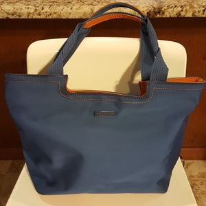 Kenneth Cole Reaction Blue/orange Tote with/ Zippe